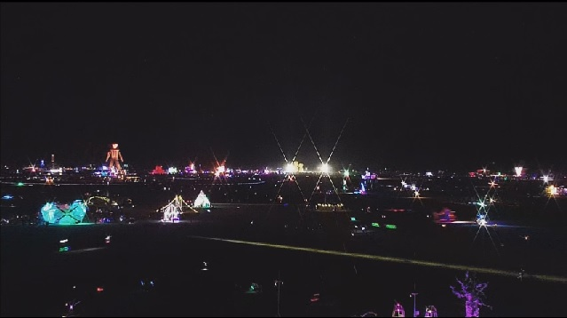 Burning Man 2014 night scene