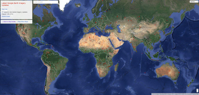 Google Earth Imagery Update August 13th, 2014