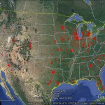 Jimmy John's non-compete zones in Google Earth