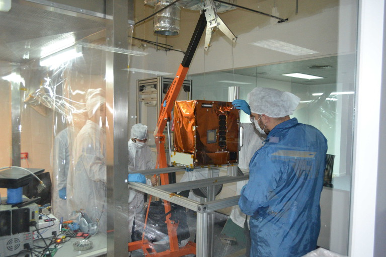 BugSat-1 in a clean room