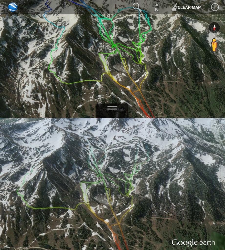 Ski tracks KML