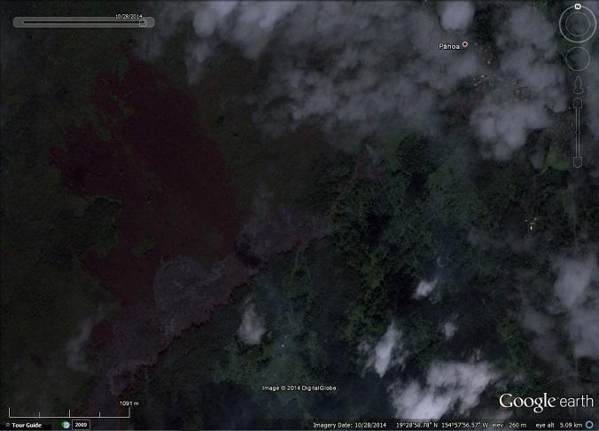 Lava flow approaching Pāhoa, Hawaii