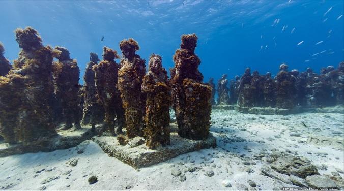 The Underwater Museum of Isla Mujeres, Mexico