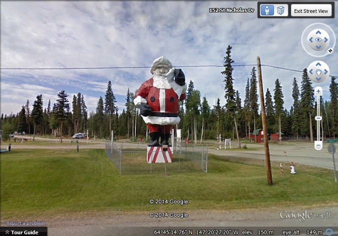 Santa Claus statue North Pole, Alaska