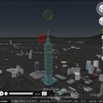 3D Fireworks in Google Earth