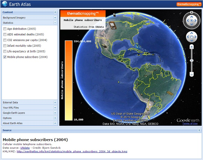 Earth Atlas 3D
