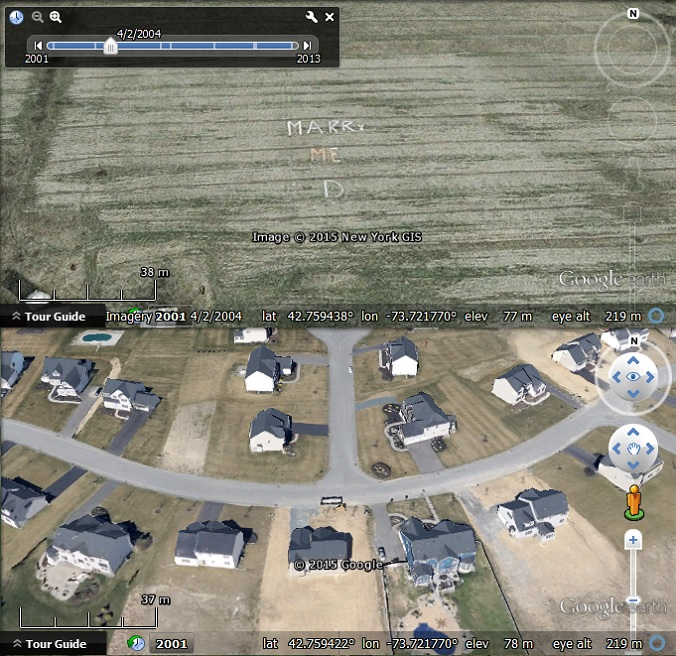 how to find imagery date on google earth