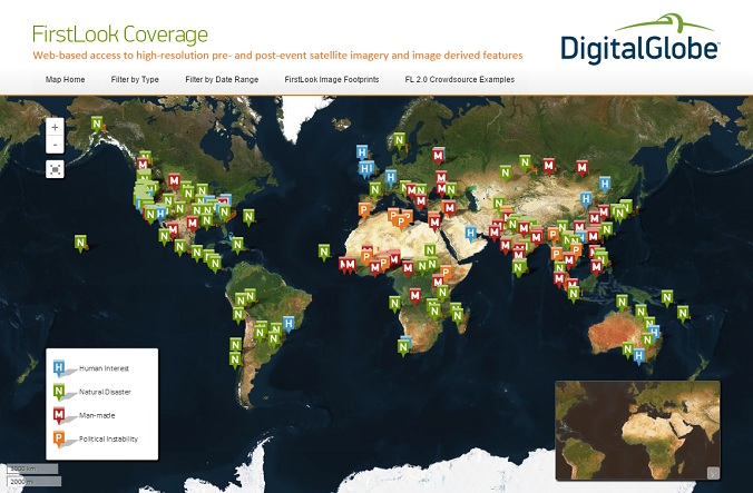 DigitalGlobe First Look coverage