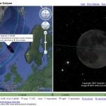 Google Earth plugin showcase: HeyWhatsThat eclipse