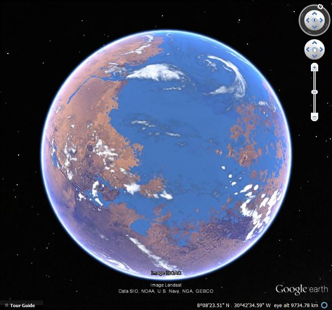 Oceans on Mars - Google Earth Blog