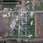 Rochelle/Fairdale Tornado Damage now Visible in Google Earth