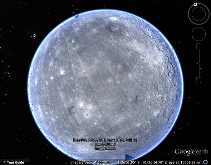 The Planet Mercury in Google Earth - Google Earth Blog