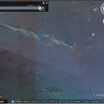 Oil Slick from Oil Platform Explosion in Google Earth