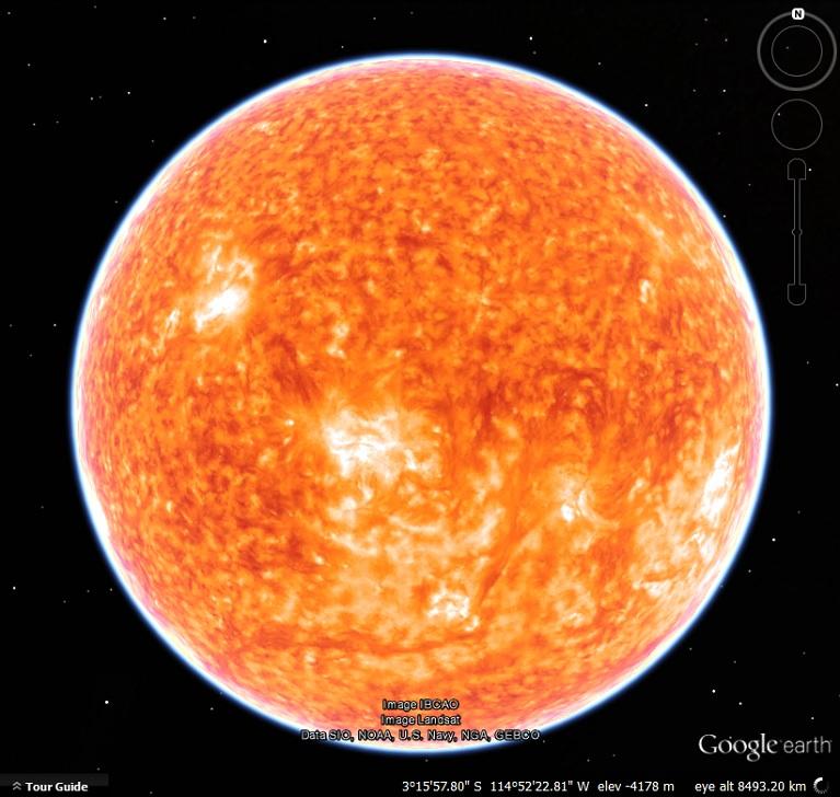Google Sun | My Google Map Blog on