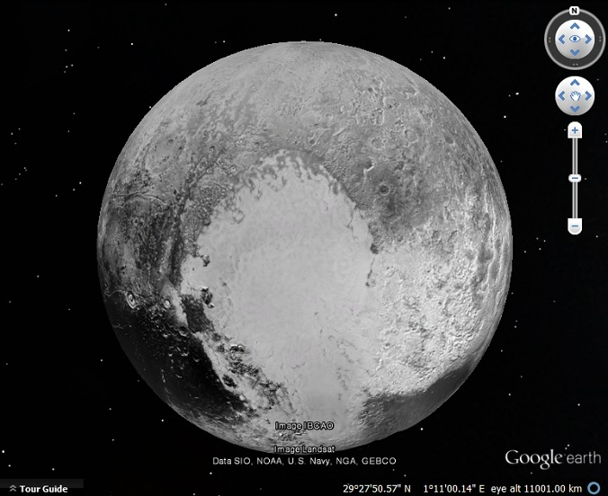 latest pluto map in google earth google earth blog