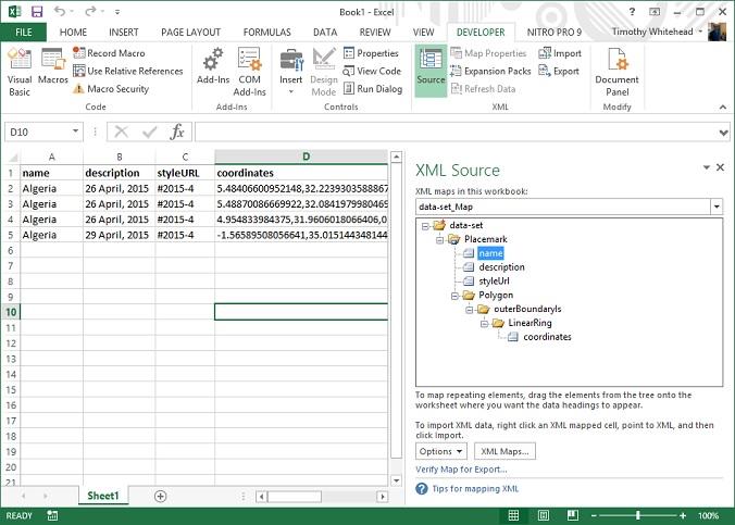 xml to excel converter