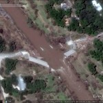 Flood damage in Google Earth