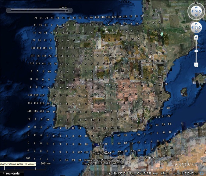 Google Earth Map Of Spain.Historical Imagery Density In Google Earth Part 1 My Google Map Blog