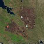Tracking wild fires in Google Earth