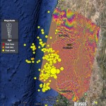 Surface deformation after Chile earthquake