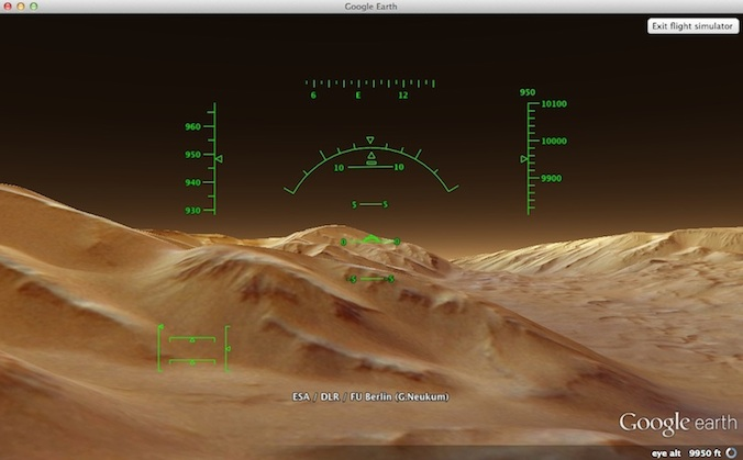Flying on Mars