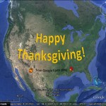Creating Thanksgiving cards with Google Earth