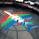 Google Earth 'Rainbow Planes' Inspire Art