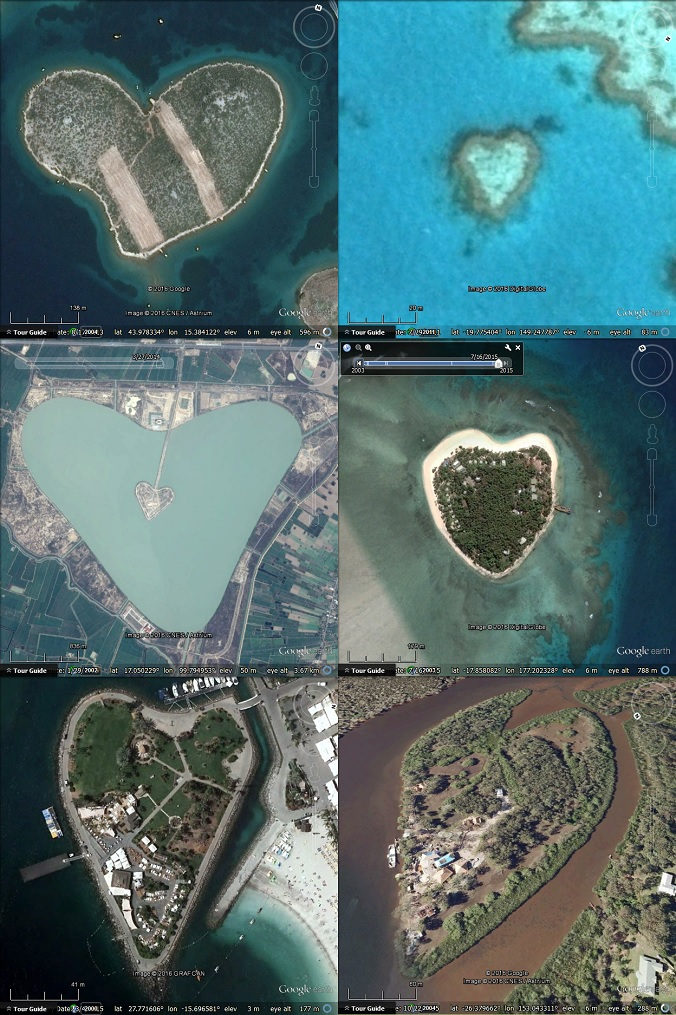 Celebrate Valentine S Day With Google Earth Google Earth Blog