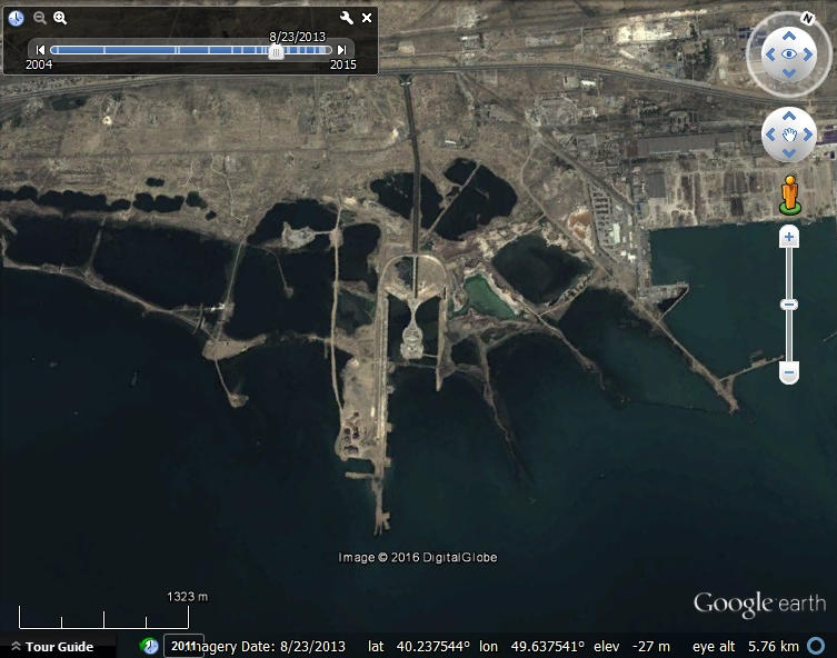 Watching land reclamation with google earth google earth blog the azerbaijan tower may be built on it and when completed may be the tallest building in the world gumiabroncs Gallery