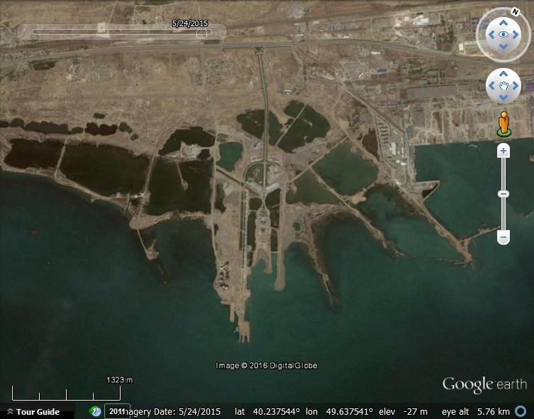 Watching land reclamation with google earth google earth blog khazar islands azerbaijan gumiabroncs Gallery