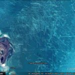 Scour marks in the Caspian Sea