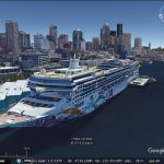 Ships in Google Earth's 3D imagery