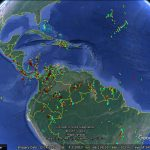 Lightning strikes map in Google Earth
