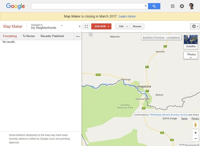 Google Map Maker merging with Google Maps