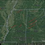 Tornado tracks in Google Earth imagery