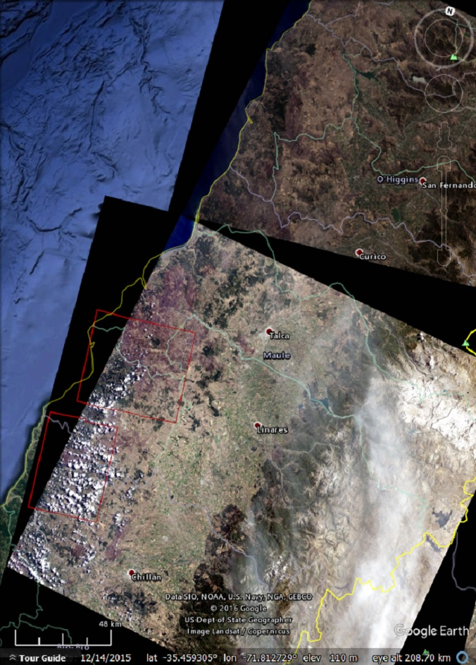 Exploring The Chile Wildfires With Landsat And Sentinel Imagery - Us wildfires google map