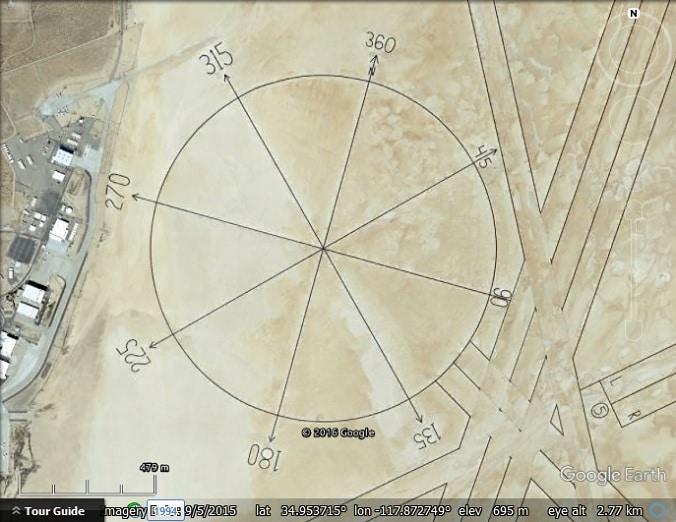 Calibration Targets 2 Edwards Air Force Base Google Earth Blog